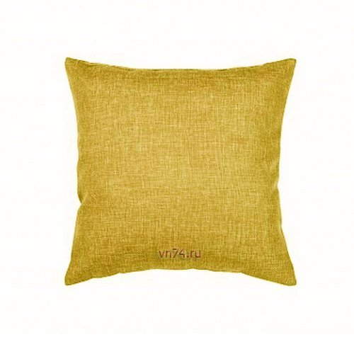 Подушка декоративная 40 x 40 рогожка горчица