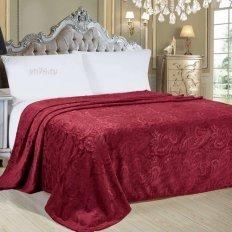Плед велсофт Luxury Красный Нежный сон 794