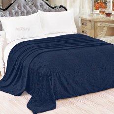 Плед велсофт Luxury Темно-синий Нежный сон 718