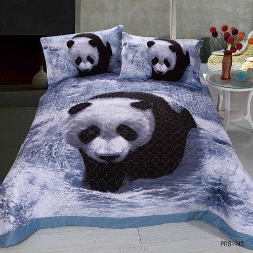Покрывало стёганое 3D Valtery Panda PRS-143