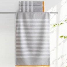 Полотенце махровое Aquarelle Круиз полосы Серый