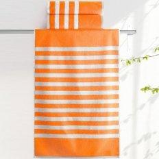 Полотенце махровое Aquarelle Круиз полосы Ярко-оранжевый