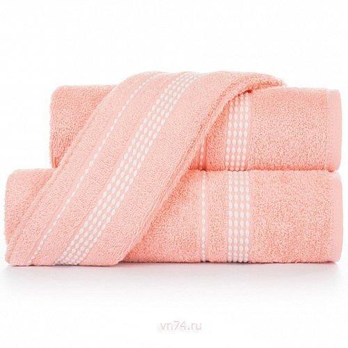 Полотенце махровое Aquarelle Лето розово-персиковый