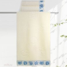 Полотенце махровое Aquarelle Ракушки ваниль