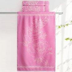 Полотенце махровое Aquarelle Розы Нежно-розовый орхидея 1