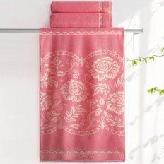 Полотенце махровое Aquarelle Розы Розово-персиковый коралл 2