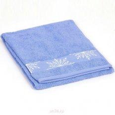 Полотенце махровое Aquarelle Снежинки спокойный синий