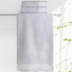 Полотенце махровое Aquarelle Толедо холодный серый