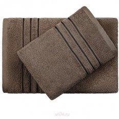Полотенце махровое Aquarelle Верона темно-коричневый