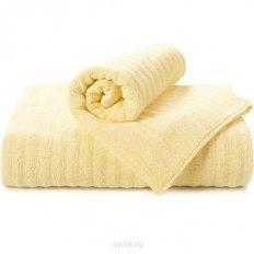 Полотенце махровое Aquarelle Волна светло-желтый
