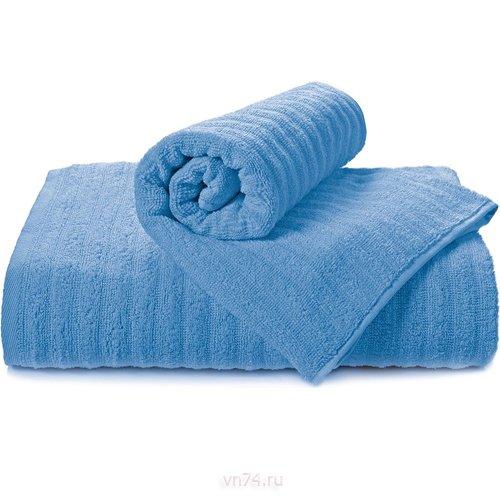 Полотенце махровое Aquarelle Волна cпокойный синий