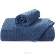 Полотенце махровое Aquarelle Волна темно-синий