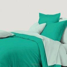 Постельное белье Колорит Мечтательный зеленый (микросатин)