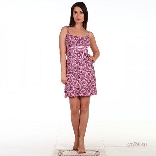 Сорочка Лента розовая (хлопок)