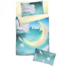 Детское постельное белье с резинкой на простыне Облачко New moon (бязь-люкс)