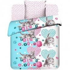 Детское постельное белье Обнимяу (бязь-люкс)