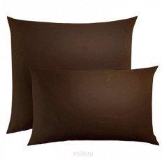 Наволочки трикотажные на молнии 2 шт. шоколад (хлопок)