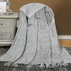 Плед велсофт с кисточками Торговый дом Текстиль 117