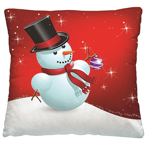 Подушка декоративная 40 x 40 Снеговик