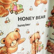 Полотенце махровое Мишки Honey Bear желтое