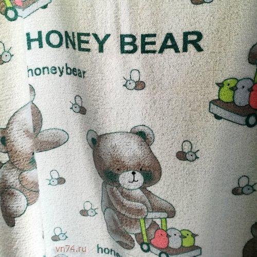 Полотенце махровое Мишки Honey Bear нежно-голубое