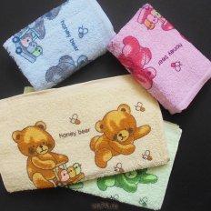 Полотенце махровое Мишки Honey Bear розовое