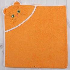 Полотенце махровое уголок детский Оранжевый