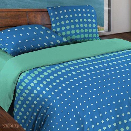Постельное белье Wenge Motion Dot Sea Blue (бязь-гост)