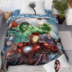 Детское постельное белье Мстители Superheroes панно (поплин)