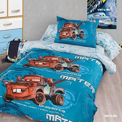 Детское постельное белье Тачки (ранфорс)