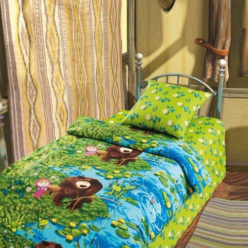Детское постельное белье Маша и Медведь-На рыбалке (бязь-люкс)