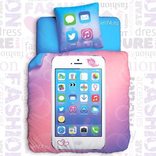 Детское постельное белье Unison Glamour Phone (биоматин)