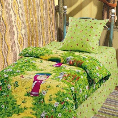 Детское постельное белье Маша и Медведь-На границе (бязь-люкс)