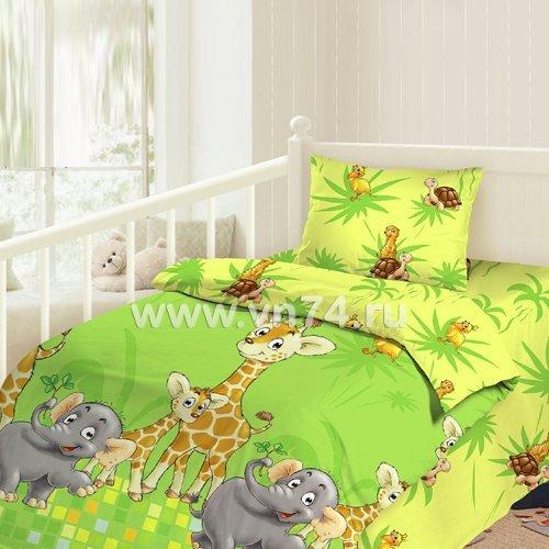 Детское постельное белье Облачко Джунгли (бязь-люкс)