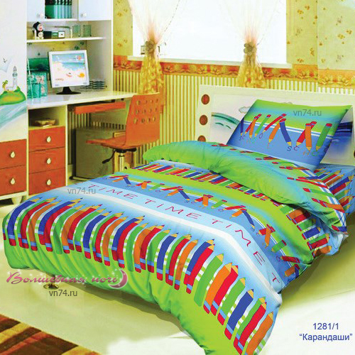 Детское постельное белье Bravo Kids Карандаши (поплин)