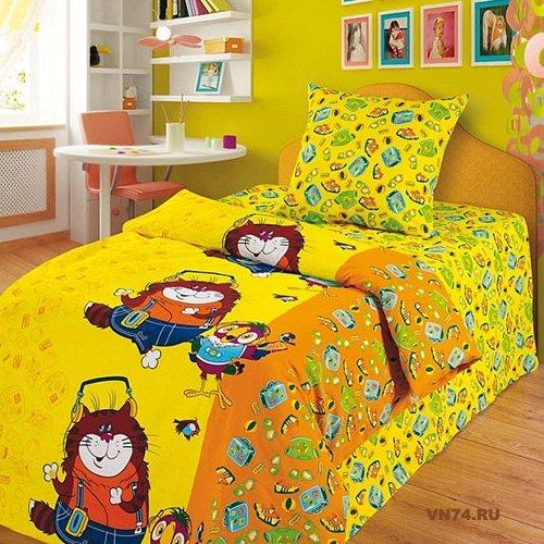 Детское постельное белье Кеша и кот (бязь-гост)
