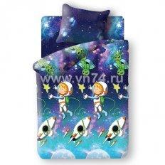 Детское постельное белье Космонавт (бязь-люкс)