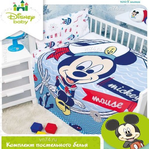 Детское постельное белье Mona Liza Микки Морячок (бязь-люкс)