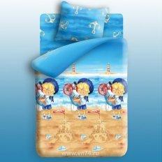 Детское постельное белье Непоседа с простыней на резинке Морячок (бязь-люкс)