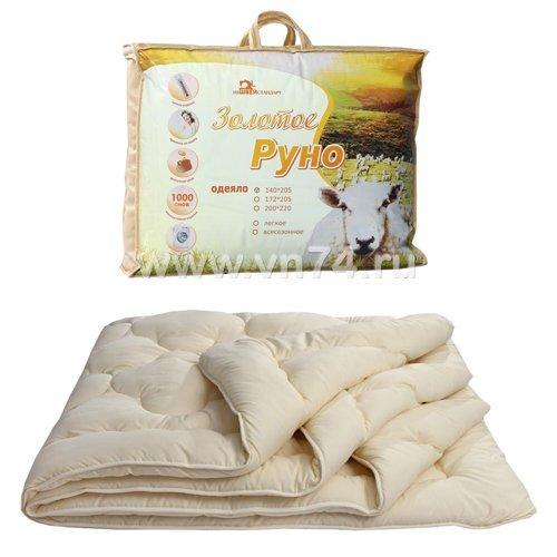 Одеяло овечья шерсть Золотое руно классическое