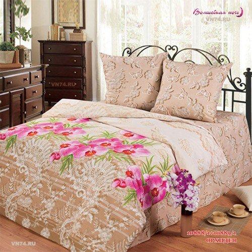 Постельное белье Любимый дом Орхидея (бязь-гост)