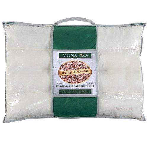 Подушка валик с лузгой гречихи Mona Liza Premium