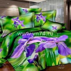 Постельное белье Sorrento 3D Iris (сатин)