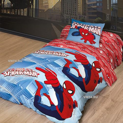 Детское постельное белье Новый Человек Паук 2 (ранфорс)