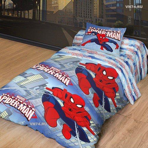 Детское постельное белье Новый Человек Паук (ранфорс)
