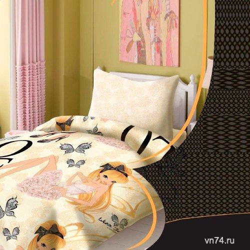Детское постельное белье Winx Fairy Couture Stella (поплин)
