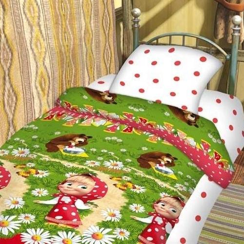 Детское постельное белье Маша и Медведь - Большая стирка (бязь-люкс)