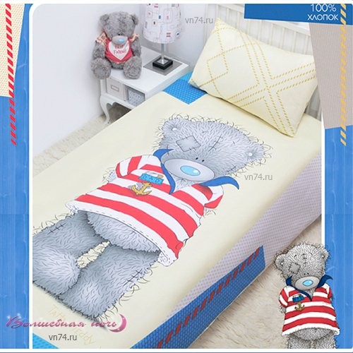 Детское постельное белье Mona Liza Тедди морячок (бязь-люкс)