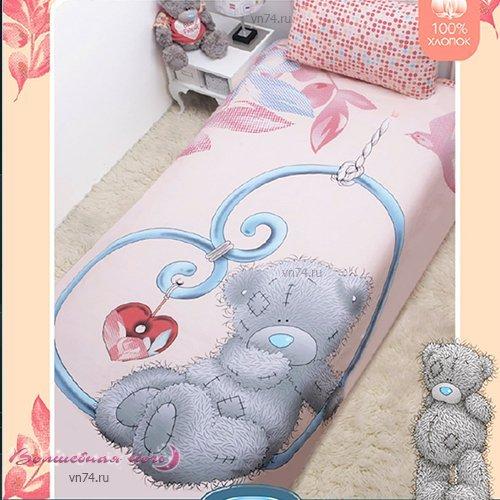 Детское постельное белье Mona Liza Тедди на сердце (бязь-люкс)