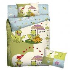 Детское постельное белье Веселые Лягушки (бязь-люкс)